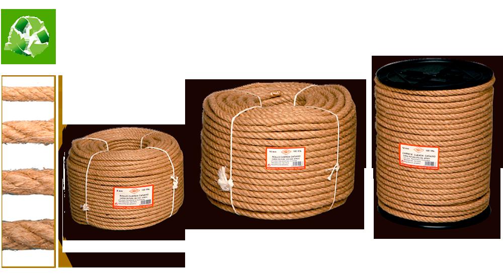 cuerda de camo natural ecolgico cableada 4c